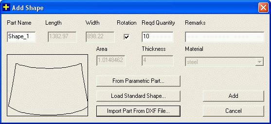 Nesting and Optimization Software - PLUS 2D : Importing of dxf fle or CAD drawing file