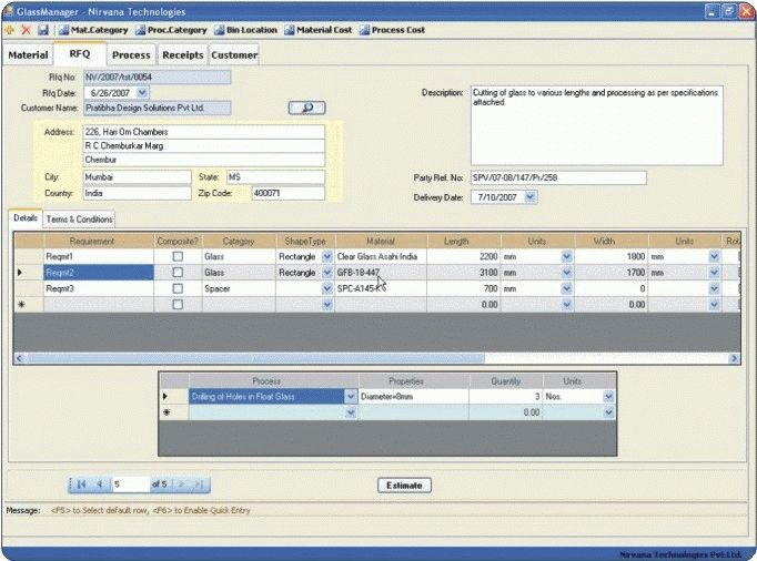 Order Processing and Inventory Software for Glass : PLUS
