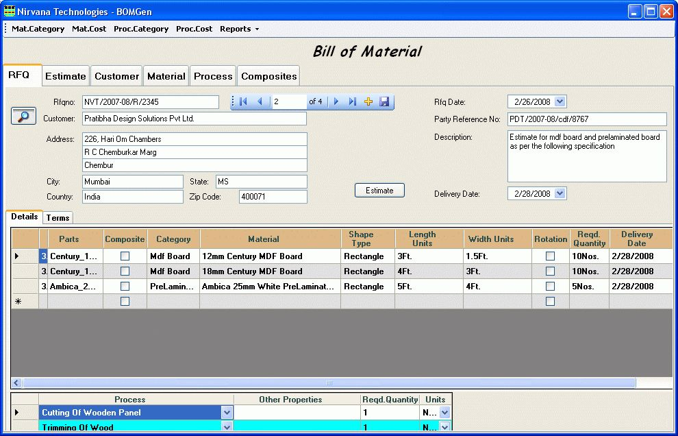 Of Material Generation Software  Plus Bomgen